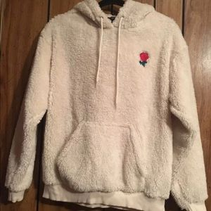 Forever 21 Cream fuzzy hoodie